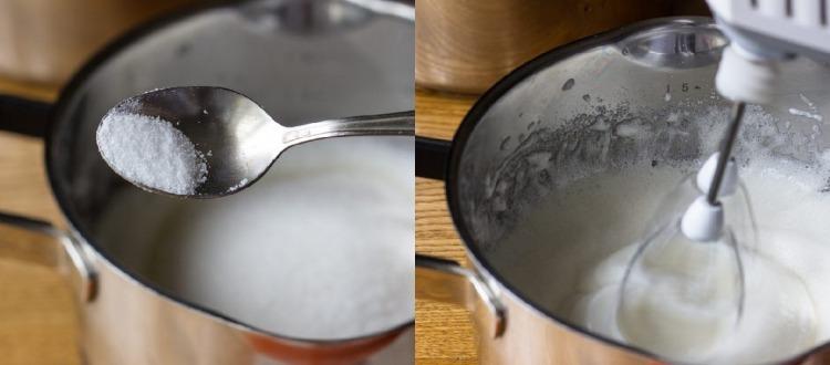 «Мокрое безе» — крем глянцевый, стойкий, отлично держащий форму и не растекающийся. К тому же вкусный и нежный, как зефирчик.