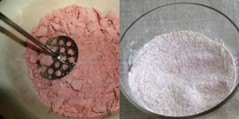 Вот что получается из обычного брикета киселя. Кулинарное открытие! Такой ярко-розовой красоты не ожидала.